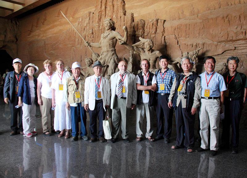 水洞沟遗址博物馆序厅受到中外专家的喜爱