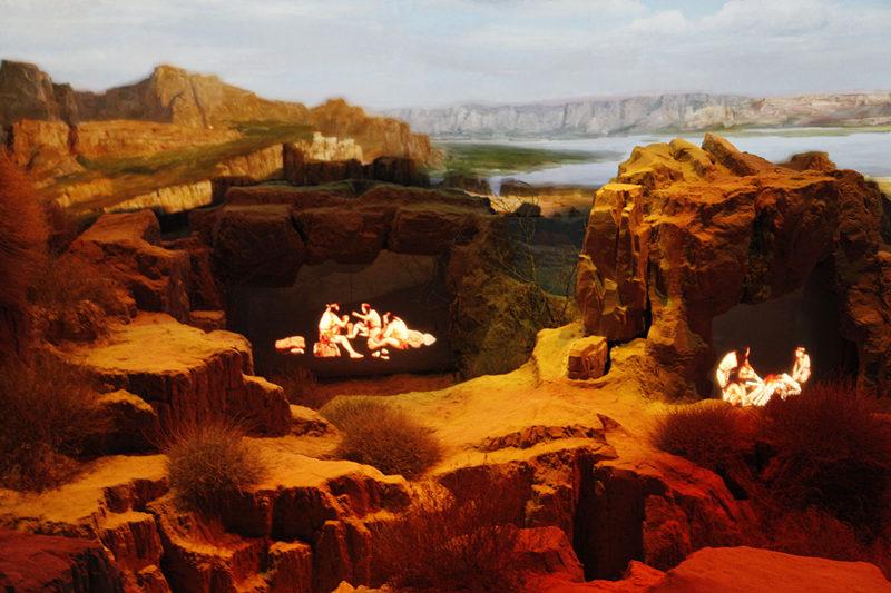 水洞沟博物馆《印象三万年》实景演绎
