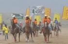 """银川赛马大会激情开赛 150名骑士""""饮马长城"""""""