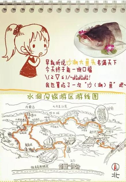 萌萌哒手绘图:神奇宁夏之旅!