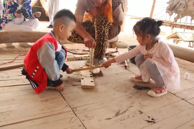 银川旅游六一儿童节水洞沟钻木取火体验