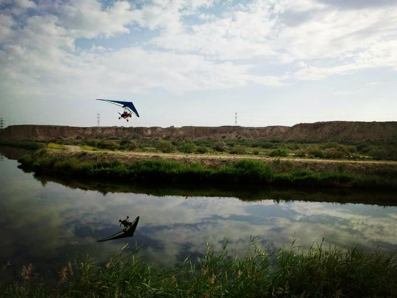银川旅游攻略动力三角翼飞越水洞沟