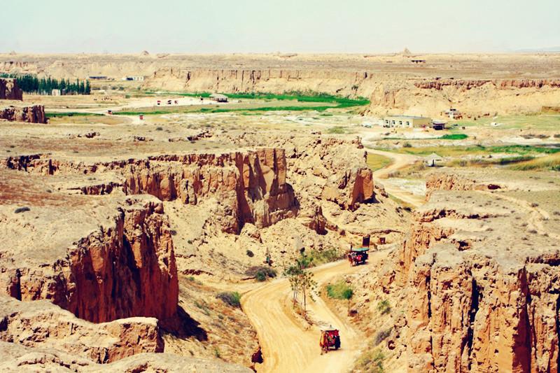 银川旅游景点水洞沟遗址大峡谷
