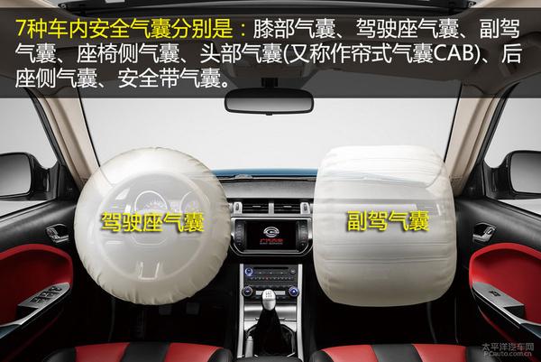 车内七种安全气囊