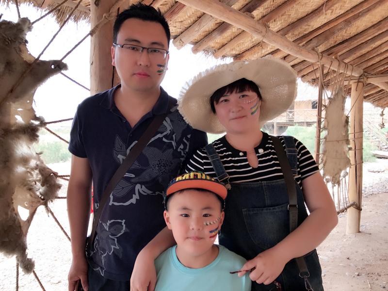 银川旅游攻略水洞沟幸福一家人出游
