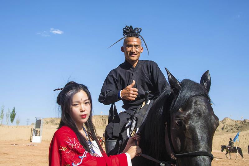 宁夏旅游水洞沟北疆天歌演员
