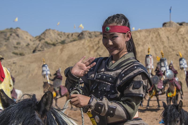 宁夏银川旅游水洞沟北疆天歌女演员