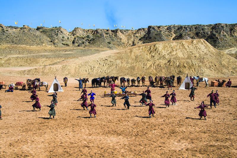 宁夏旅游水洞沟景区北疆天歌开场舞