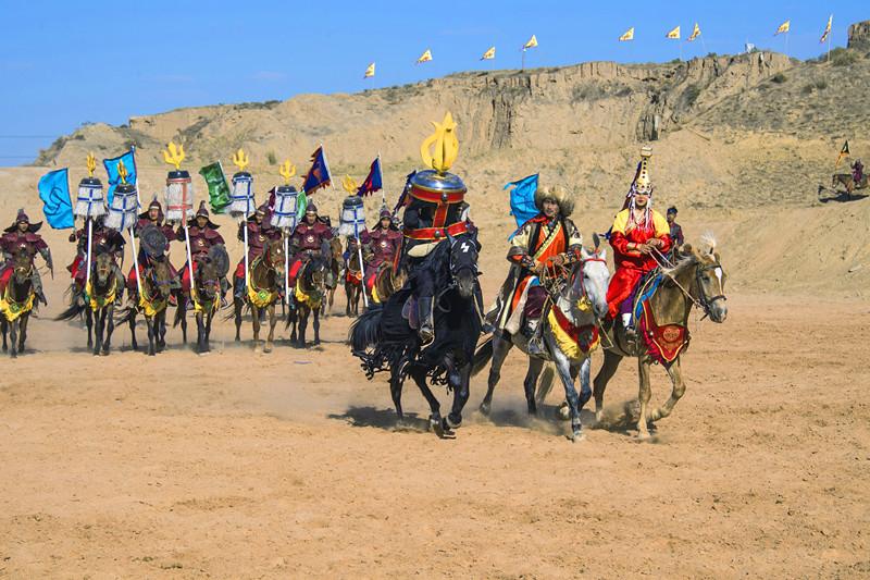 宁夏旅游水洞沟景点北疆天歌马术表演
