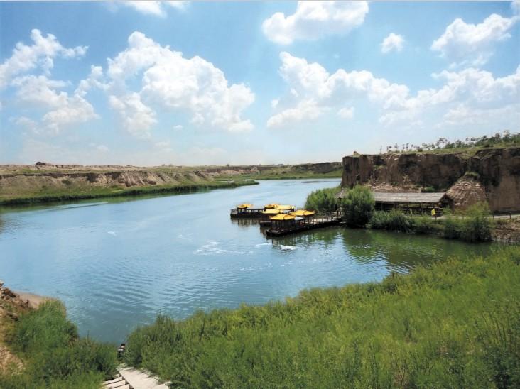 水洞沟宁夏旅游红山湖码头