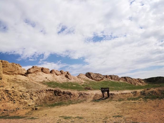 银川旅游景点水洞沟野外风光