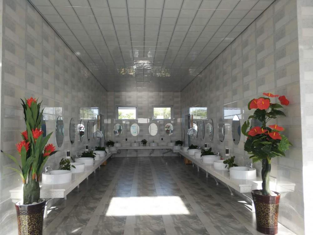 宁夏旅游景点水洞沟景区厕所