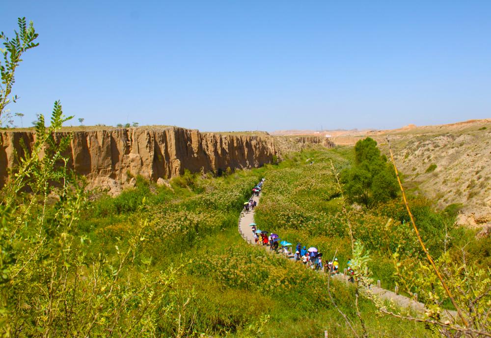 宁夏旅游水洞沟