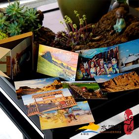 宁夏水洞沟创意印象风景明信片